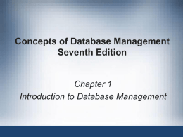Intro to DB Management