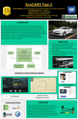 EcoCar3 Project Poster - csns - California State University, Los