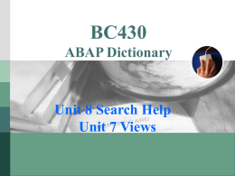 BC430:VIEW與Search Help