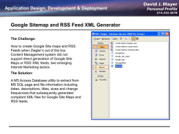 Google Sitemap and RSS Feed XML Generator