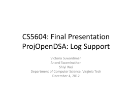 ProjOpenDSA - Log Support final presentation (pptx)