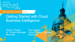 DBI210: Getting Started with Cloud Business Intelligence