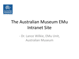 The Australian Museum EMu Intranet Site