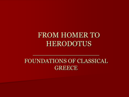 FROM HOMER TO HERODOTUS - Eastern New Mexico University