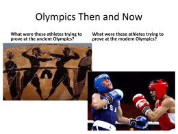 Olympics Then and Now