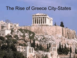 The Rise of Greece City