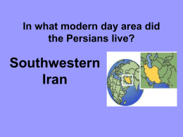 In what modern day area did the Persians live?