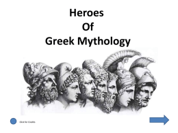Heroes of Greek Mythology I