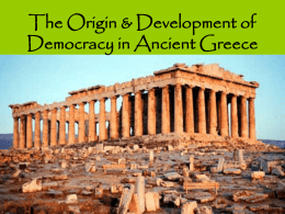Development of Democracy in Ancient Greece