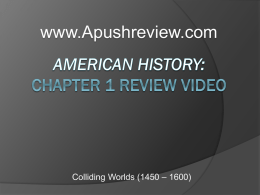 America`s History chapter 1