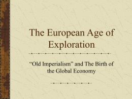 The European Age of Exploration