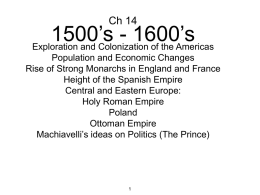 Ch 14 Rise of Monarchs and Exploration