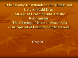 -The Islamic Heartlands in the Middle and Late Abbasid