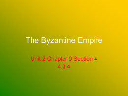 The Byzantine Empire - HFAWorldHistory-Kos