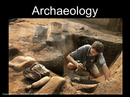 Archaeology and Carbon Dating