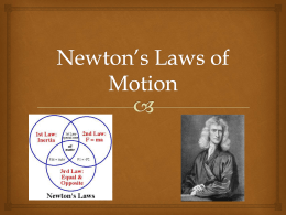 Newton*s Laws of Motion
