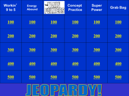 Jeopardy Unit 3a Energy