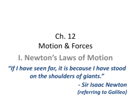Ch. 12 Friction and Newton Laws PPT