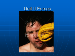Unit II Forces