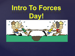Force Notes - Mrs. Cline`s Science Class