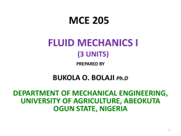 MCE 205 - Federal University of Agriculture, Abeokuta