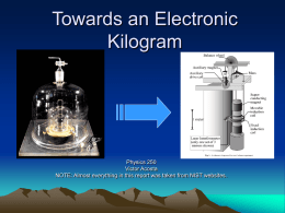 Towards an Electronic Kilogram