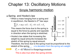 Chapter 13: Periodic Motion