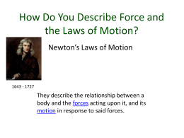 How Do You Describe Force and the Laws of Motion?