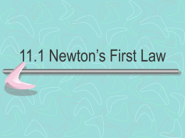 4-2 Newton's First Law