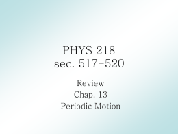 PHYS 218 - Texas A&M University