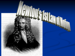 4.2 Newton's 2nd & 3rd Laws