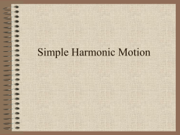Simple Harmonic Motion - Lompoc Unified School District