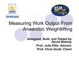 Measuring Work Output Done on a Weightlifting Machine