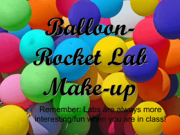 Balloon Lab Make-up