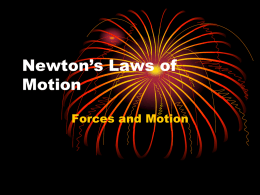 Laws of Motion Notes - Independent School District 196