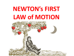 Newtons First Law of Motion PowerPoint