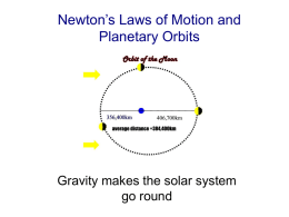 Newton`s Laws of Motion and Planetary Orbits