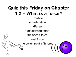 What is a force? - South Windsor Public Schools