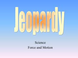 Force - Motion