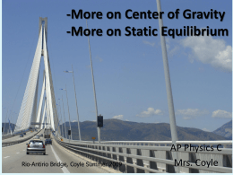 3 More on Static Equilibrium and Center of Gravity
