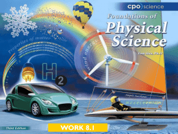 Work - CPO Science
