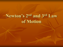 Newton`s 3rd Law of Motion