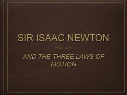 and the three laws of motion