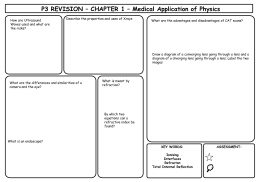 P3 REVISION – CHAPTER 1 – Medical