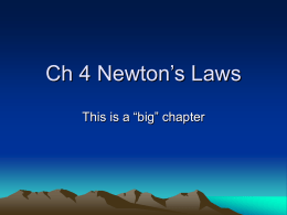 Ch 4 Newton`s Laws