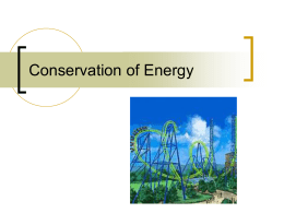 Conservation of Energy - NYU Tandon School of Engineering