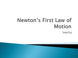 Newton_s First Law of Motion