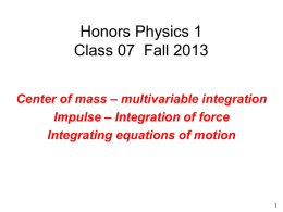 hp1f2013_class07_integration_of_eq_of_motion
