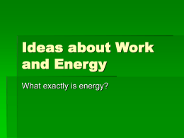 Ideas about Work and Energy