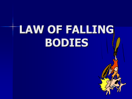 Law of Falling Bodies PowerPoint